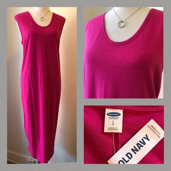 6fcf75501d13 Old Navy Raspberry Maxi Dress size L NWT 🌺
